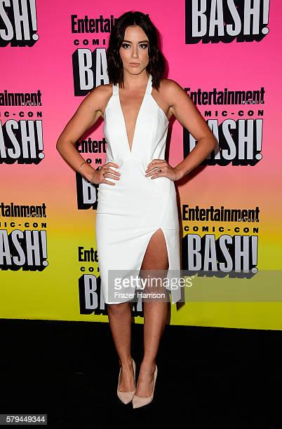 Actress Chloe Bennet attends Entertainment Weekly's ComicCon Bash held at Float Hard Rock Hotel San Diego on July 23 2016 in San Diego California...