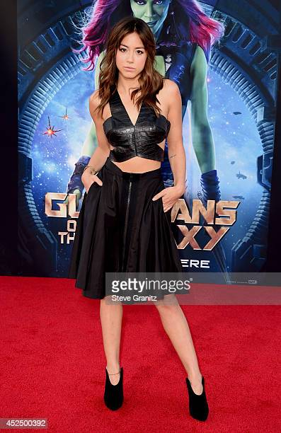Actress Chloe Bennet attends Marvel's 'Guardians Of The Galaxy' Los Angeles Premiere at the Dolby Theatre on July 21 2014 in Hollywood California