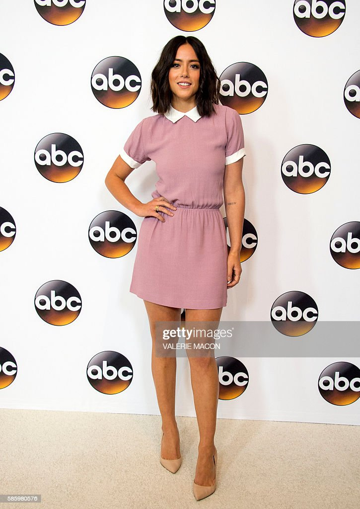 Actress Chloe Bennet attends The 2016 Disney ABC Television Group TCA Summer Press Tour in Beverly Hills, California, on August 4, 2016. / AFP / VALERIE