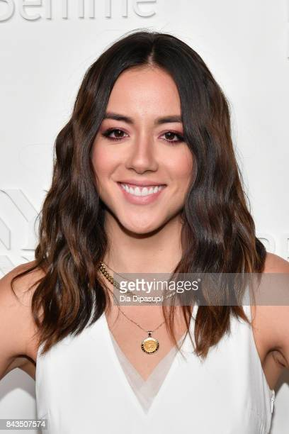 Actress Chloe Bennet attends the NYFW Kickoff Party A Celebration Of Personal Style hosted by E ELLE IMG and sponsored by TRESEMME on September 6...