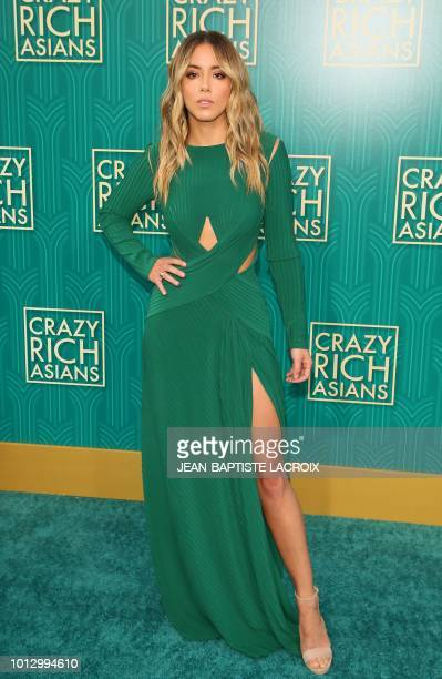 Actress Chloe Bennet attends the premiere of Warner Bros Pictures' 'Crazy Rich Asians' in Hollywood California on August 7 2018