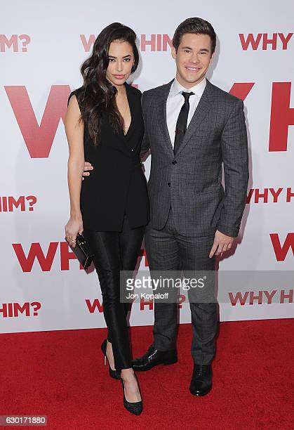 Actress Chloe Bridges and actor Adam DeVine arrive at the Los Angeles Premiere Why Him at Regency Bruin Theater on December 17 2016 in Westwood...