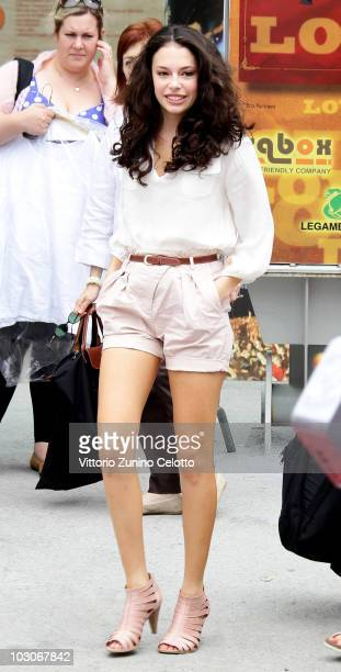 Actress Chloe Bridges arrives at a photocall during Giffoni Experience 2010 on July 24 2010 in Giffoni Valle Piana Italy