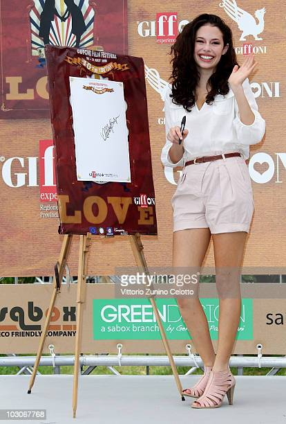 Actress Chloe Bridges attends a photocall during Giffoni Experience 2010 on July 24 2010 in Giffoni Valle Piana Italy