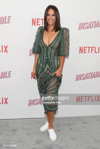 Actress Chloe Bridges attends Netflix's Insatiable season 1 premiere at ArcLight Hollywood on August 9 2018 in Hollywood California
