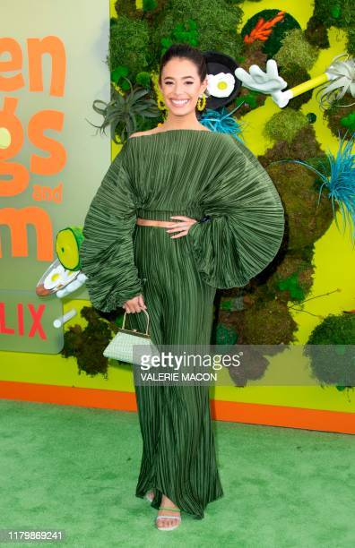 Actress Chloe Bridges attends Netflix's season 1 premiere of Green Eggs and Ham at Hollywood Post 43 on November 3 2019 in Hollywood California