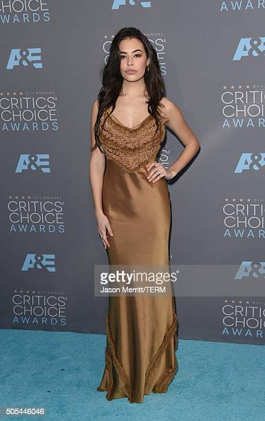 Actress Chloe Bridges attends the 21st Annual Critics' Choice Awards at Barker Hangar on January 17 2016 in Santa Monica California