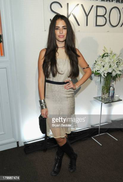 Actress Chloe Bridges attends the American Express Skybox at Mercedes Benz Fashion Week at Lincoln Center on September 7 2013 in New York City