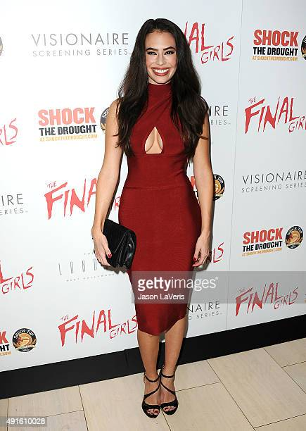 Actress Chloe Bridges attends the premiere of The Final Girls at The London Hotel on October 6 2015 in West Hollywood California