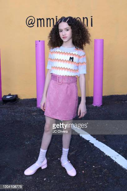Actress Chloe Coleman attends M Missoni F/W20 presentation at Pink's Hot Dogs on February 04 2020 in Los Angeles California