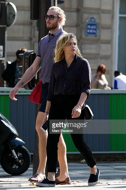 7b0ca0884f6 Actress Chloe Grace Moretz and brother Trevor Duke Moretz are seen  strolling on September 1 2016