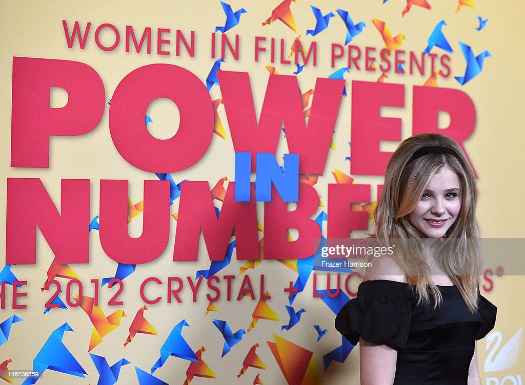 Actress Chloe Grace Moretz arrives at the 2012 Women In Film Crystal + Lucy Awards at The Beverly Hilton Hotel on June 12, 2012 in Beverly Hills, California.
