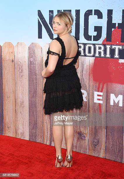 Actress Chloe Grace Moretz arrives at the premiere of Universal Pictures' 'Neighbors 2 Sorority Rising' at the Regency Village Theatre on May 16 2016...