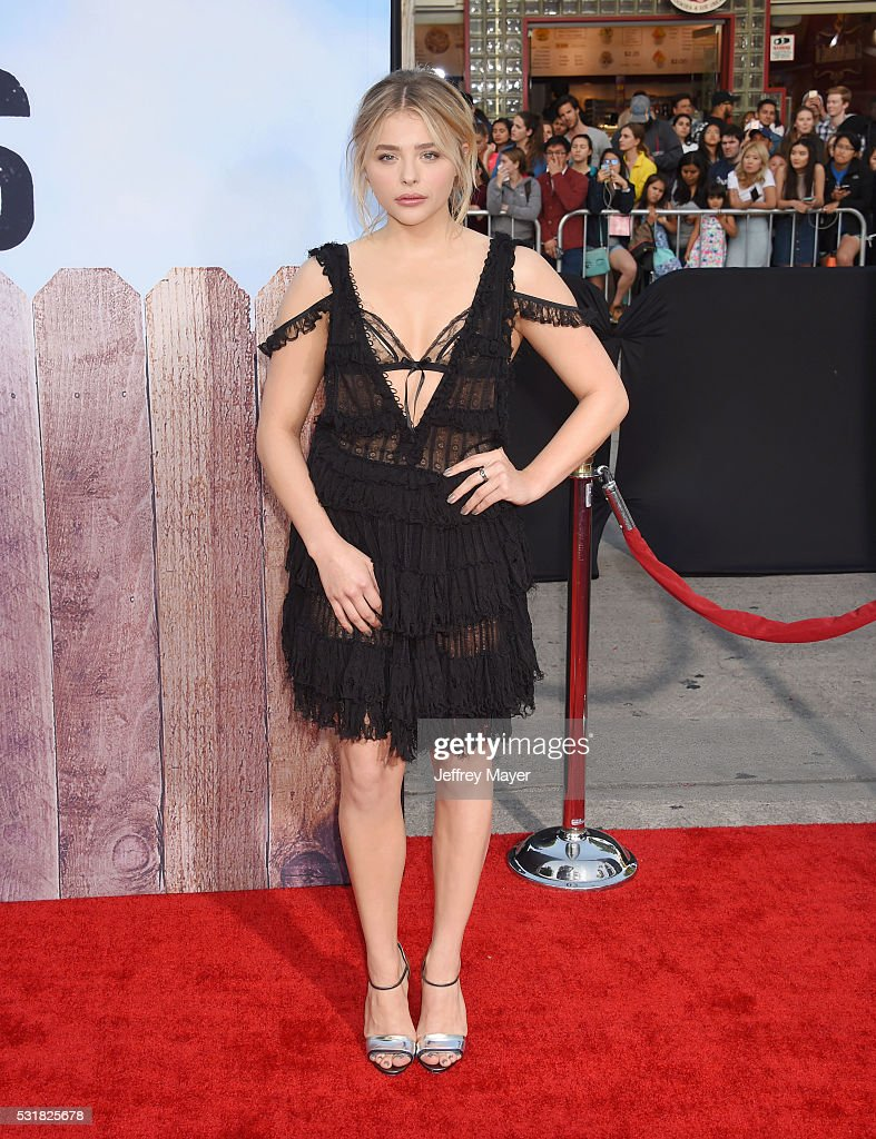 Actress Chloe Grace Moretz arrives at the premiere of Universal Pictures' 'Neighbors 2: Sorority Rising' at the Regency Village Theatre on May 16, 2016 in Westwood, California.