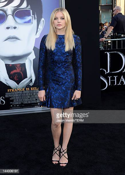 Actress Chloe Grace Moretz arrives at the premiere of Warner Bros Pictures' Dark Shadows at Grauman's Chinese Theatre on May 7 2012 in Hollywood...