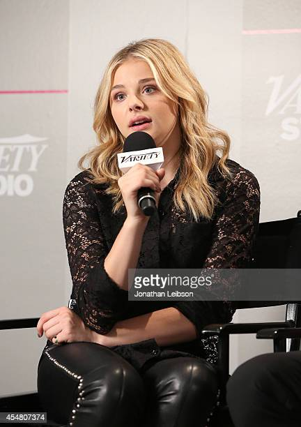 Actress Chloe Grace Moretz attends day 2 of the Variety Studio presented by Moroccanoil at Holt Renfrew during the 2014 Toronto International Film...