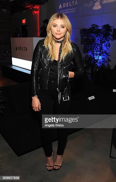Actress Chloe Grace Moretz attends Delta Air Lines Toasts GRAMMY Weekend with 'Sites and Sounds' A Private Performance and Interactive Evening with...