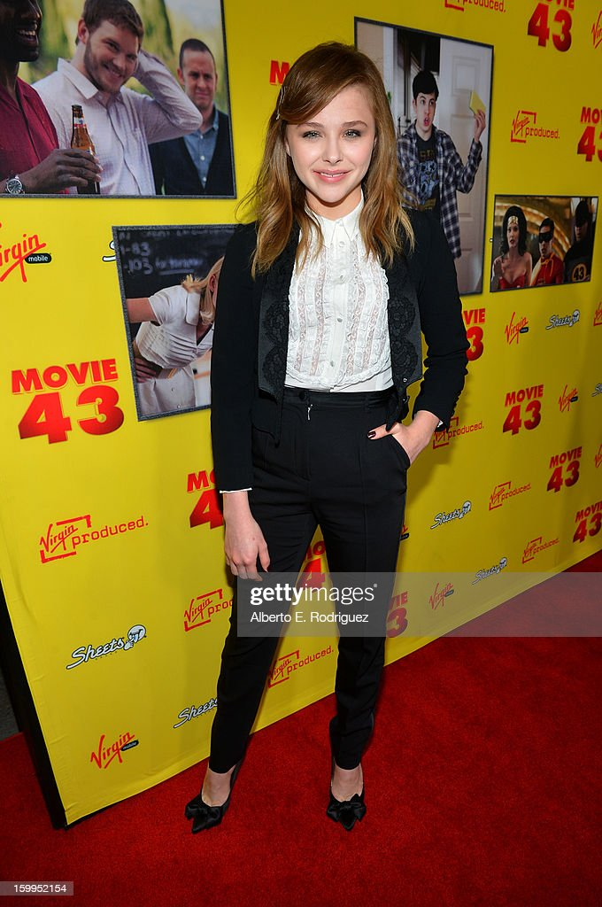 Actress Chloe Grace Moretz attends Relativity Media's 'Movie 43' Los Angeles Premiere held at the TCL Chinese Theatre on January 23, 2013 in Hollywood, California.