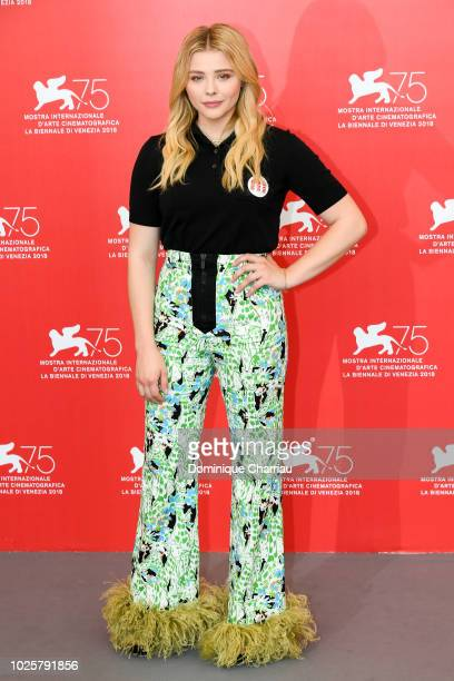 Actress Chloe Grace Moretz attends 'Suspiria' photocall during the 75th Venice Film Festival at Sala Casino on September 1 2018 in Venice Italy