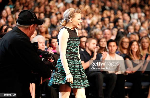 Actress Chloe Grace Moretz attends the 2012 People's Choice Awards at Nokia Theatre LA Live on January 11 2012 in Los Angeles California