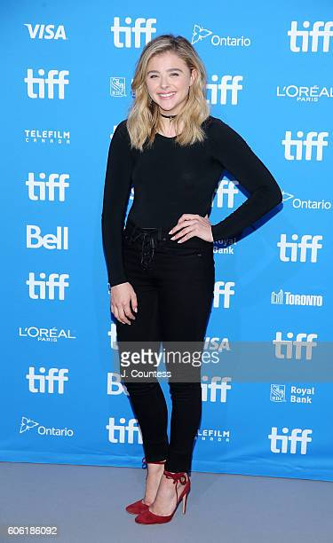 Actress Chloe Grace Moretz attends the 2016 Toronto International Film Festival 'Brain On Fire' Press Conference at TIFF Bell Lightbox on September...
