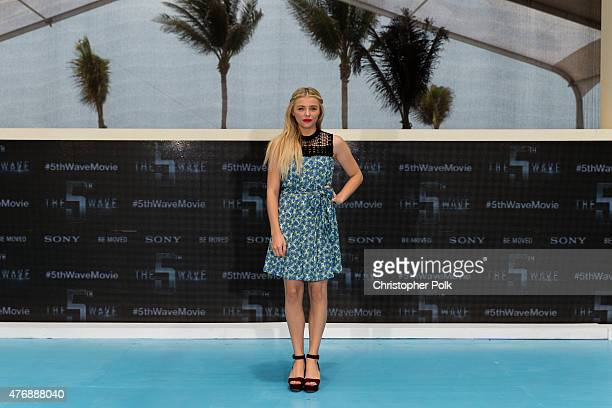 """Actress Chloe Grace Moretz attends """"The 5th Wave"""" photo call during Summer Of Sony Pictures Entertainment 2015 at The Ritz-Carlton Cancun on June 12,..."""