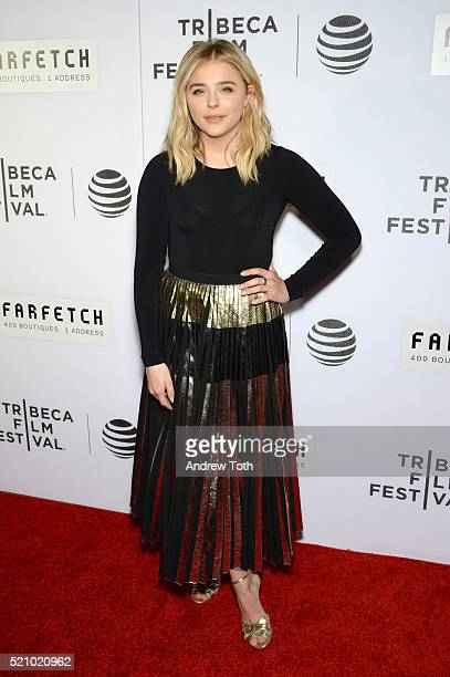 Actress Chloe Grace Moretz attends 'The First Monday In May' world premiere during the 2016 Tribeca Film Festival at John Zuccotti Theater at BMCC...