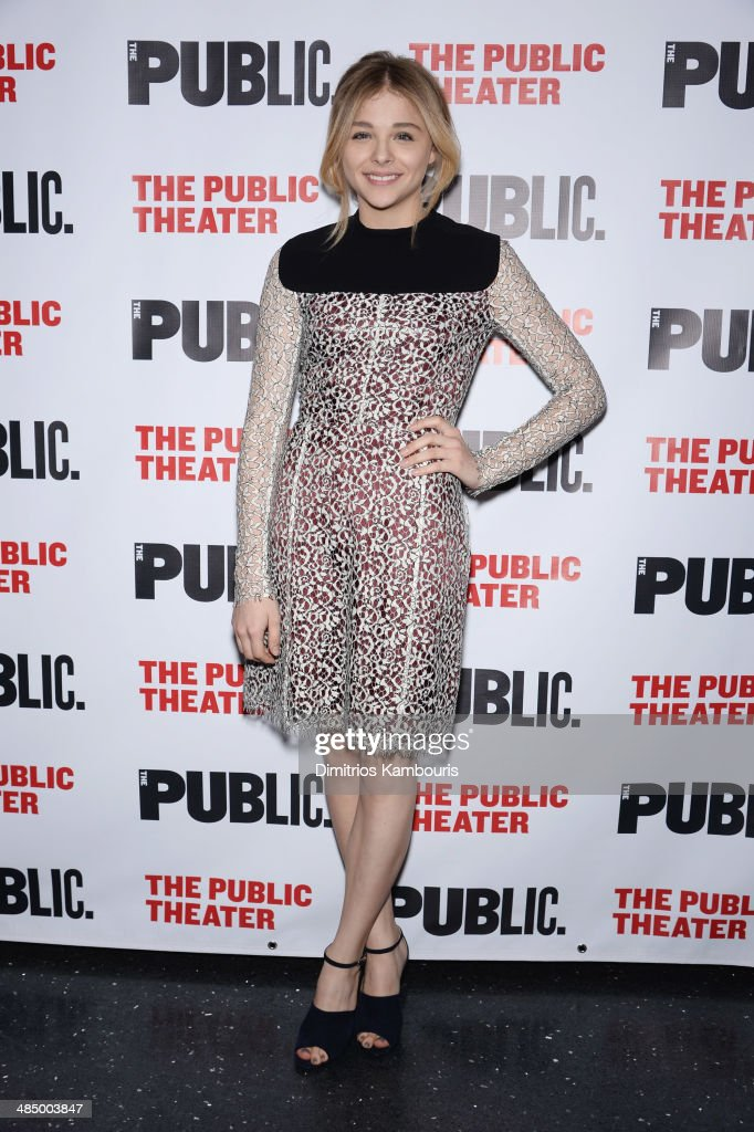 Actress Chloe Grace Moretz attends 'The Library' opening night celebration at The Public Theater on April 15, 2014 in New York City.
