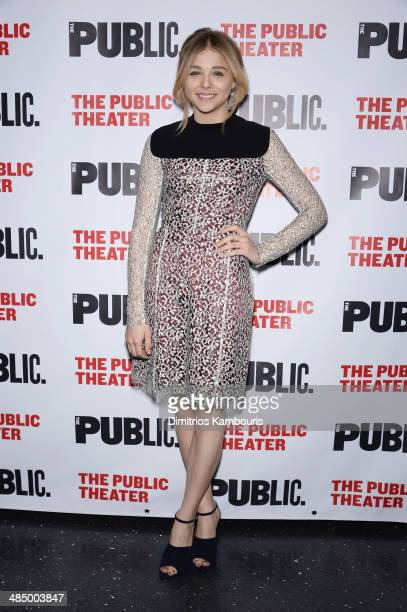 Actress Chloe Grace Moretz attends The Library opening night celebration at The Public Theater on April 15 2014 in New York City