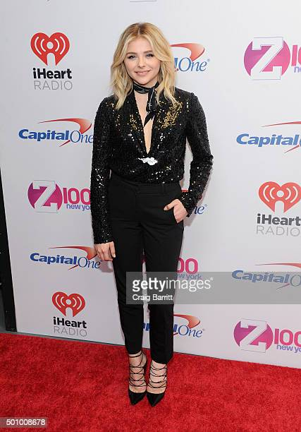 Actress Chloe Grace Moretz attends Z100's Jingle Ball 2015 at Madison Square Garden on December 11 2015 in New York City
