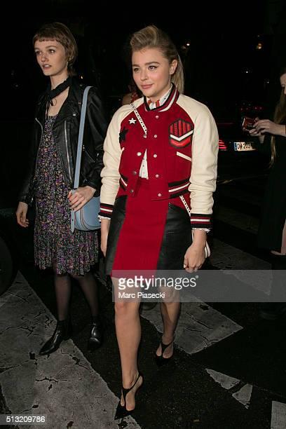 Actress Chloe Grace Moretz is seen on March 1 2016 in Paris France