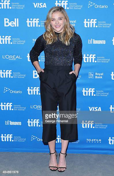 "Actress Chloe Grace Moretz poses at ""The Equalizer"" Press Conference during the 2014 Toronto International Film Festival at TIFF Bell Lightbox on..."