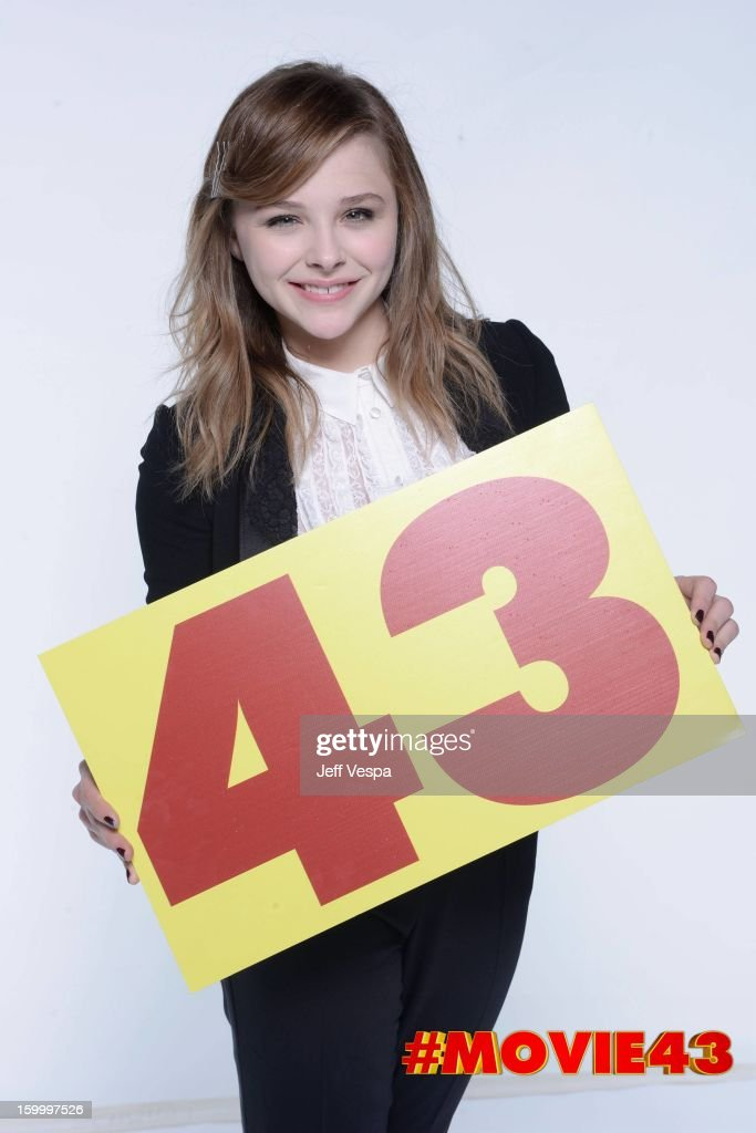 Actress Chloe Grace Moretz poses for a portrait during Relativity Media's 'Movie 43' Los Angeles premiere at TCL Chinese Theatre on January 23, 2013 in Hollywood, California.