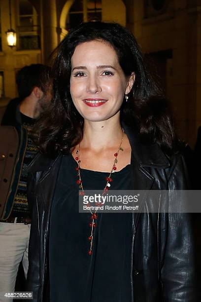 Actress Chloe Lambert attends 'Le Mensonge' : Theater Play. Held at Theatre Edouard VII on September 14, 2015 in Paris, France.