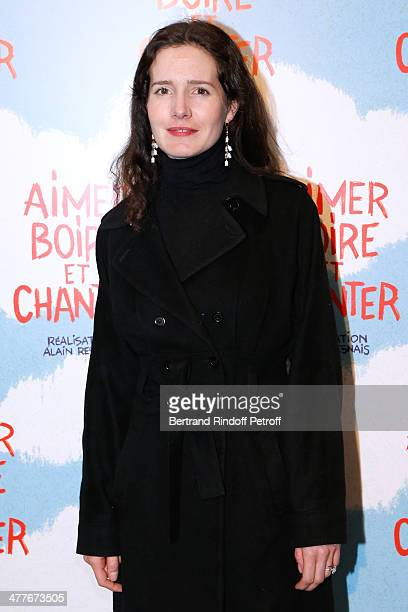 Actress Chloe Lambert attends the 'Aimer Boire Et Chanter' Paris movie premiere Held at Cinema UGC Normandie on March 10 2014 in Paris France