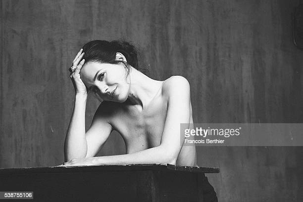 Actress Chloe Lambert is photographed for Self Assignment on November 11 2015 in Paris France