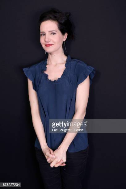 Actress Chloe Lambert poses during a portrait session in Paris France on