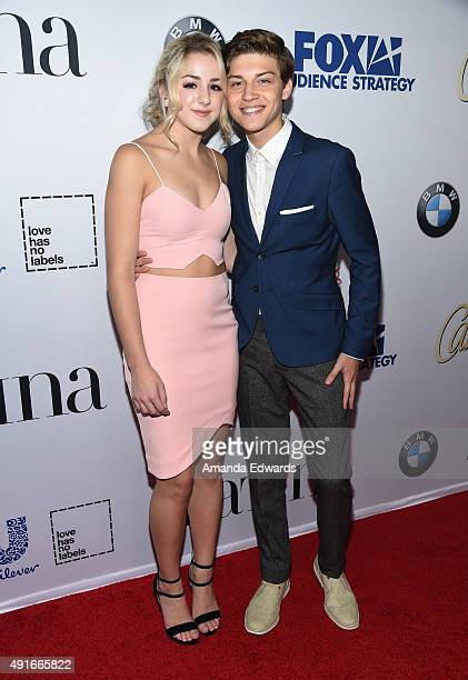 Actress Chloe Lukasiak and actor Ricky Garcia arrive at the Latina Hot List Party hosted by Latina Media Ventures at The London West Hollywood on...