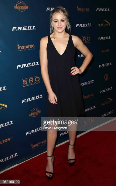 Actress Chloe Lukasiak attends a screening of Inspired Family Entertainment's 'FREDI' at Landmark Theatre on March 14 2018 in Los Angeles California