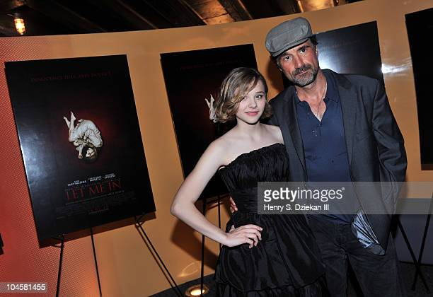 Actress Chloe Moretz and actor Elias Koteas attend the Let Me In premiere at the SVA Theater on September 30 2010 in New York City