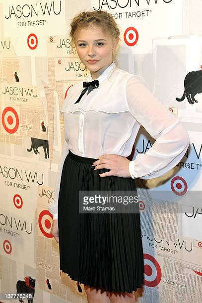 Actress Chloe Moretz attends the Jason Wu For Target launch at Skylight SOHO on January 26 2012 in New York City