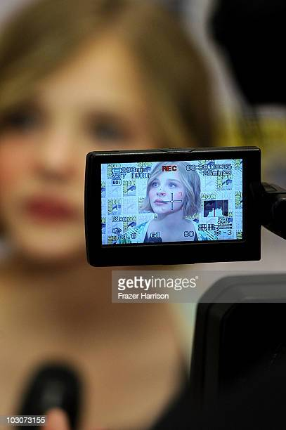Actress Chloe Moretz attends the Overture Let Me In Press Conference during ComicCon 2010 at the Hilton San Diego Bayfront Hotel on July 24 2010 in...