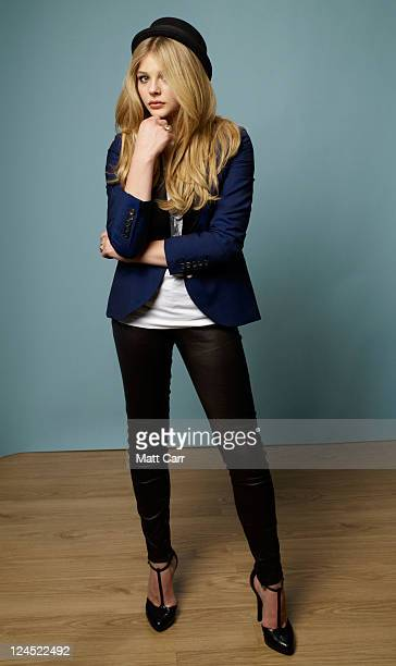 Actress Chloe Moretz of Hick poses for a portrait during the 2011 Toronto Film Festival at the Guess Portrait Studio on September 10 2011 in Toronto...