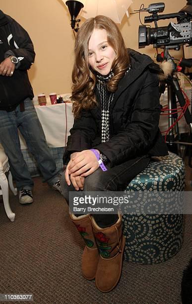 Actress Chloe Moretz visits the Kari Feinstein Sundance Style Lounge on January 17, 2009 in Park City, Utah.
