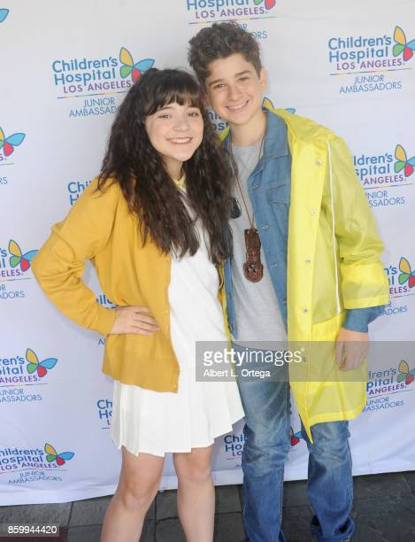 Actress Chloe Noelle and actor Jax Malcolm attend the 2nd Annual #Action Jax Movie Morning Fundraiser screening of 'The Goonies' presented by Nerds...