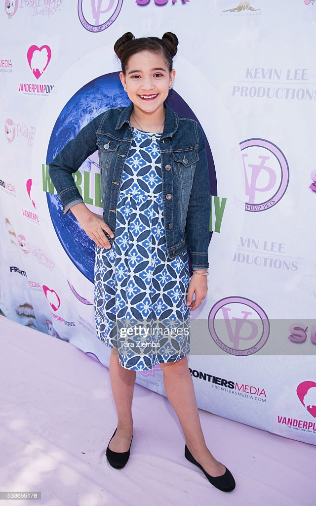 Actress Chloe Noelle attends World Dog Day Celebration at The City of West Hollywood Park on May 22, 2016 in West Hollywood, California.