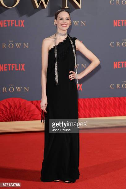 Actress Chloe Pirrie attends the World Premiere of season 2 of Netflix 'The Crown' at Odeon Leicester Square on November 21 2017 in London England
