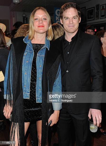 Actress Chloe Sevigny and actor Michael C Hall attend the launch of Kiehl's Rare Earth Deep Pore Cleansing Masque on April 7 2011 in Santa Monica...