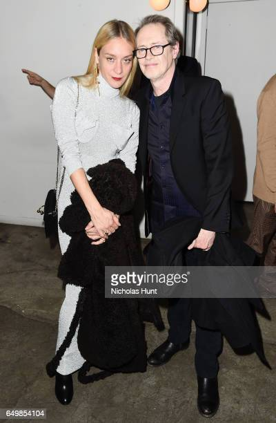 Actress Chloe Sevigny and Actor Steve Buscemi attend the Metrograph Theater 1st Year Anniversary Party at The Metrograph on March 8 2017 in New York...
