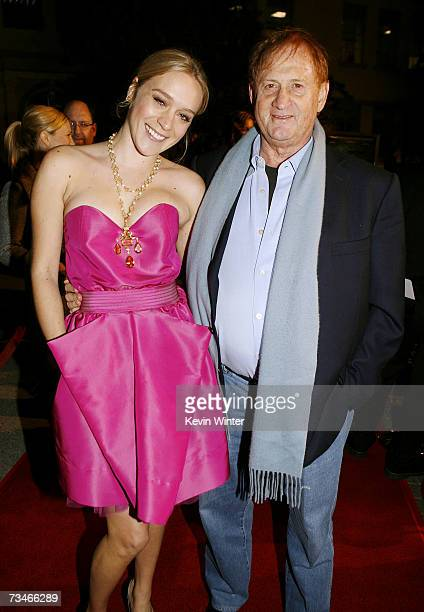 Actress Chloe Sevigny and producer Mike Medavoy pose at the premiere of Paramount Picture's 'Zodiac' at the Paramount Theatre on March 1 2007 in Los...